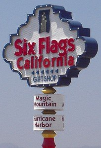 Six Flags Sign
